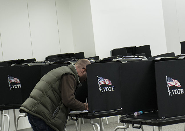 A citizen casts his vote on a provisional ballot. (File)