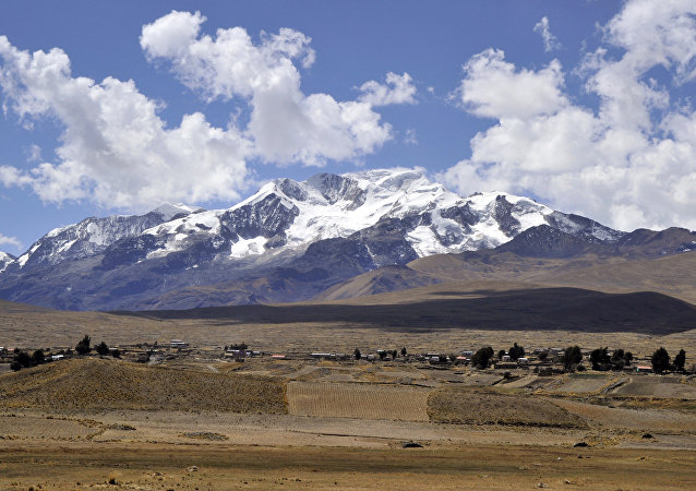 4050 metres above sea level, on the foothills of the Illampu snowcapped mountain in the Bolivian Andes. (File)