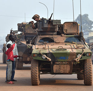 French Sangaris forces patrolling in the Muslim PK 5 district in Bangui, as people go to the polls to take part second round of the presidential and legislative elections in the Central African Republic (File)