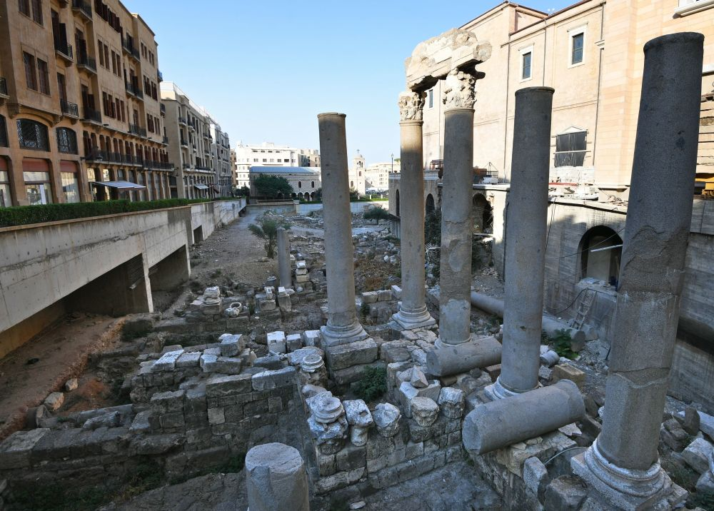 Ancient Roman ruins in Hadiqat As-Samah (the Garden of Forgiveness) in the heart of modern Beirut.