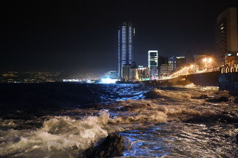 The Corniche is a 4.8-kilometer-long seaside promenade in Lebanon's capital.