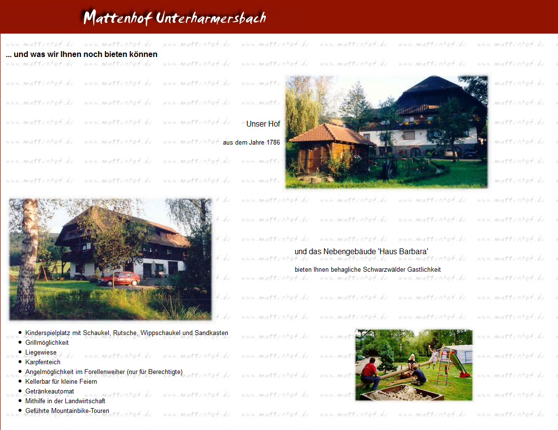 the Mattenhof guesthouse which the Israeli party wanted to book for their holiday
