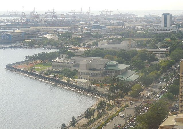 Aerial view of the US Embassy Manila