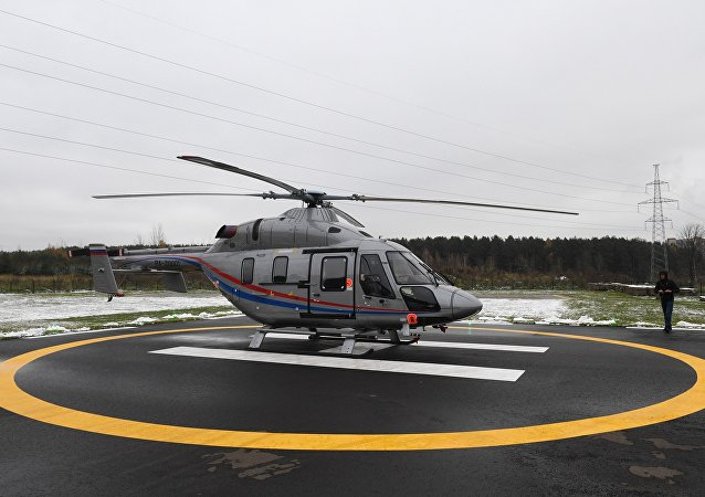 Presentation of the light multi-purpose two-engine Ansat helicopter in the Barvikha Helipark in the Moscow Region