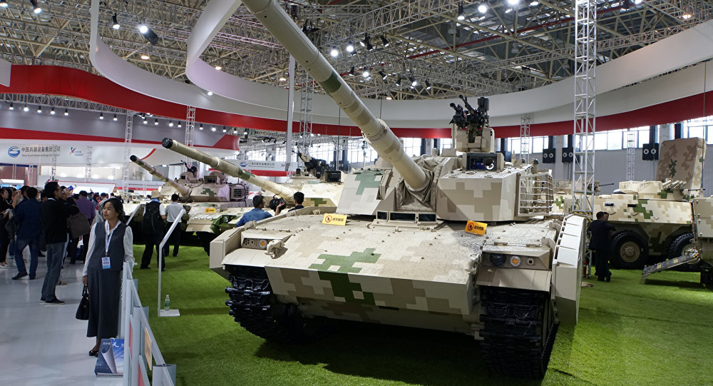 A VT5 lightweight main battle tank, built by China North Industries Corp (Norinco), is on display at Airshow China in Zhuhai, Guangdong province November 3, 2016