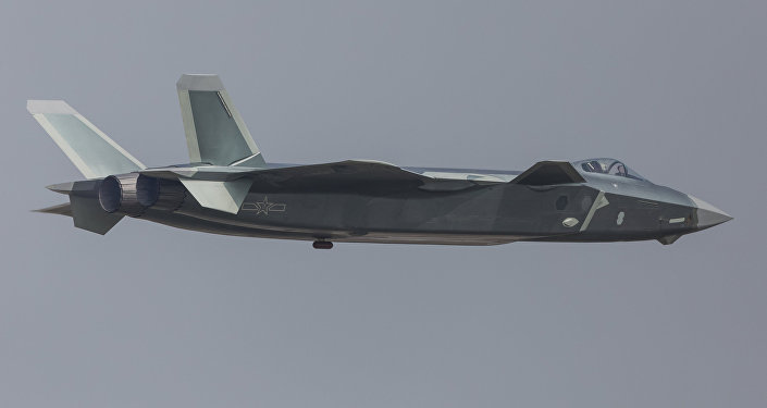 China unveils its J-20 stealth fighter during an air show in Zhuhai, Guangdong Province, China, November 1, 2016.