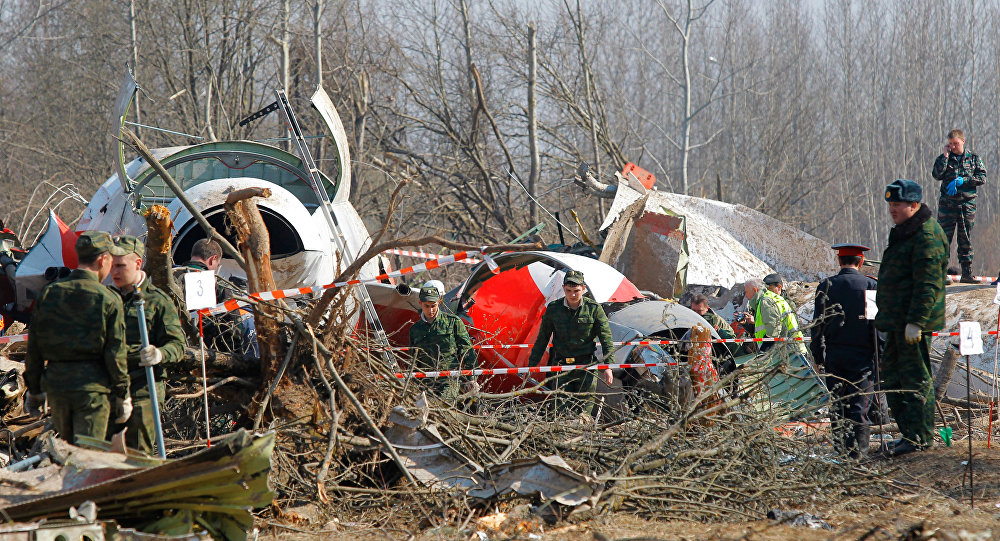 Site of Polish government Tu-154 airplane crash