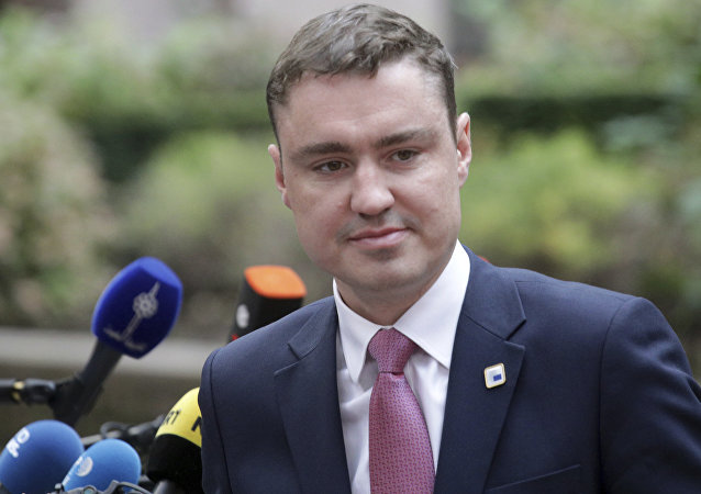 Estonia Prime Minister Taavi Roivas arrives for the EU summit in Brussels. (File)