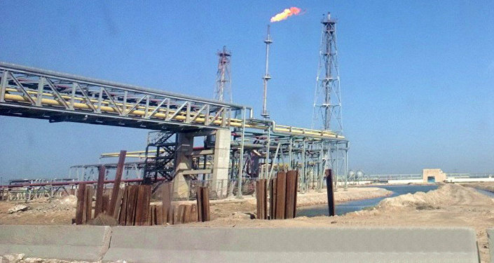 Oil refinery at lake Mariout close to Alexandria, Egypt