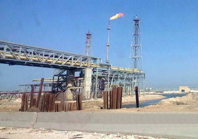 Oil refinery at lake Mariout close to Alexandria, Egypt