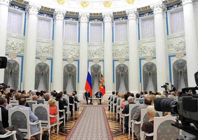 Vladimir Putin meets with members of Civic Chamber