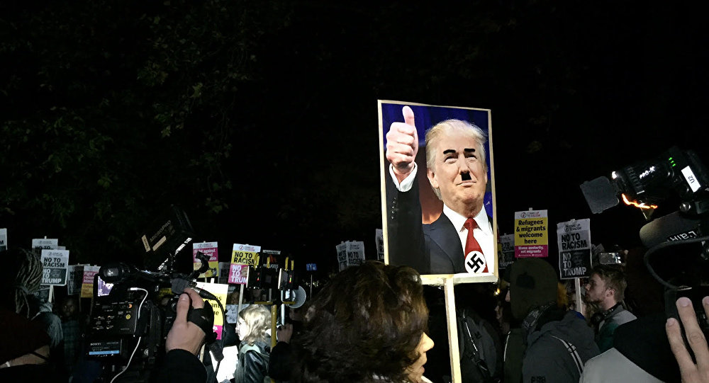 Anti-Trump Anti-Racism Protests in London