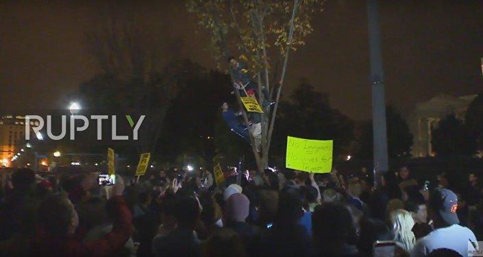 Anti-Trump rally in Washinfton, DC