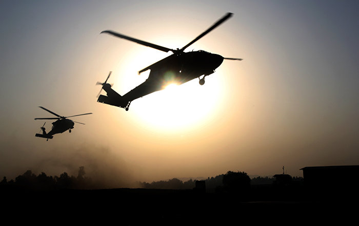 US Helicopters Spotted in Al-Hasakah Reportedly Evacuating Daesh Members (VIDEO)
