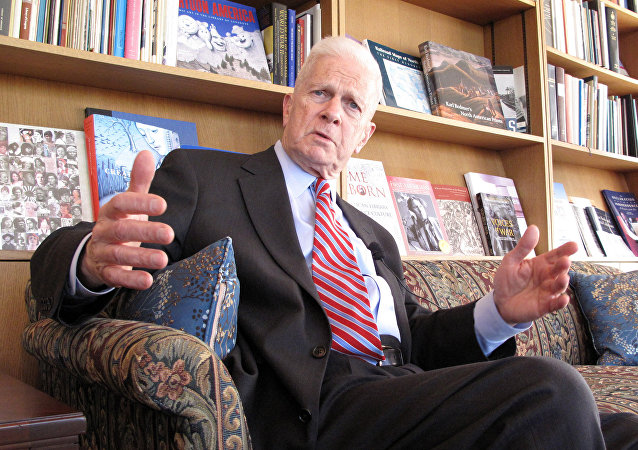Dr. James Billington, Librarian of Congress speaks on April 9, 2009 at the Library of Congress in Washington,DC.