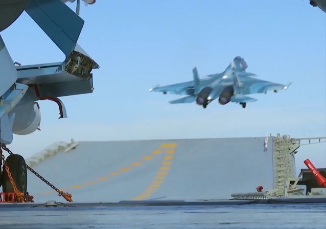 At least 30 militants from the Jabhat Fatah al Sham including a commander who had planned an offensive in Aleppo, were eliminated as a result of airstrikes launched from the Admiral Kuznetsov aircraft carrier.