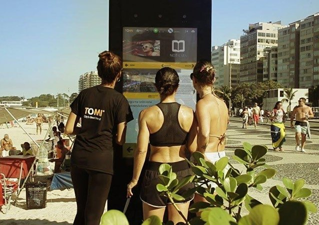 TOMI interactive information system in Rio de Janeiro