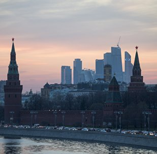 View of the Moscow Kremlin from the Bolshoy Moskvoretsky Bridge. (File)