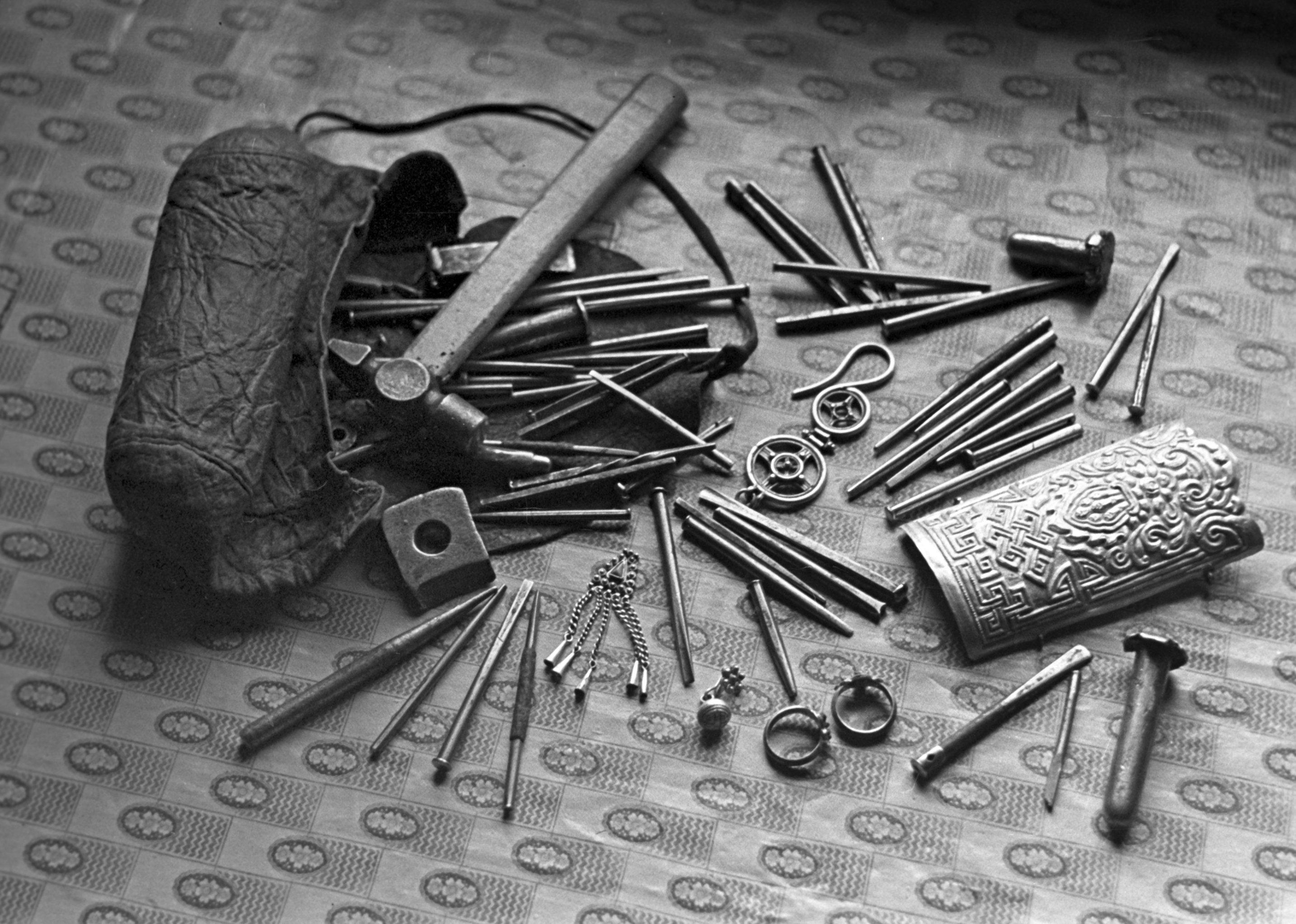 Tools of silver chaser Dolgor Loginova. (File)