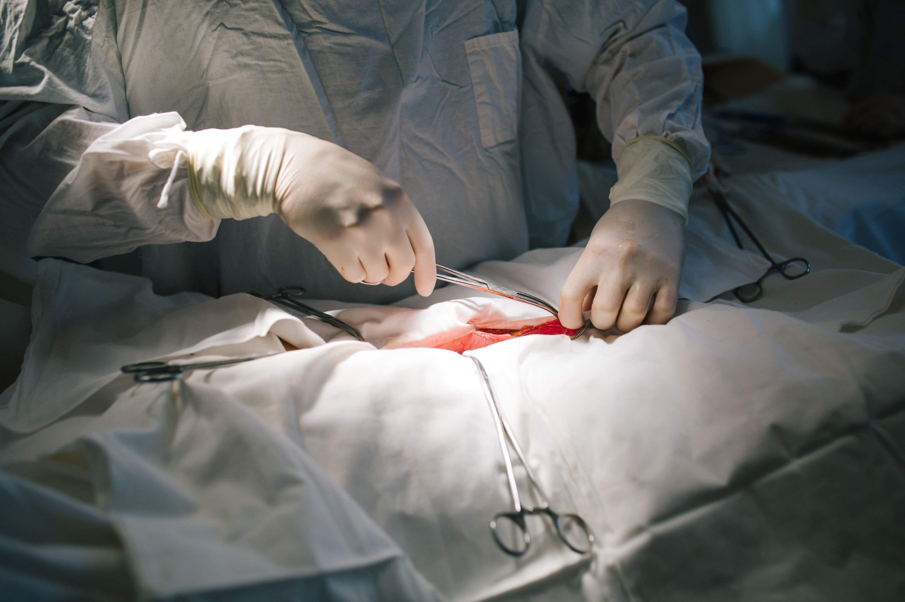 Хирургическая операция в больнице