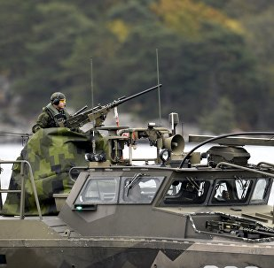 A Swedish Navy fast-attack craft patrols in the the Stockholm Archipelago, Sweden (file)