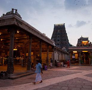 A view of Kapaleeswarar Temple, Chennai, India.
