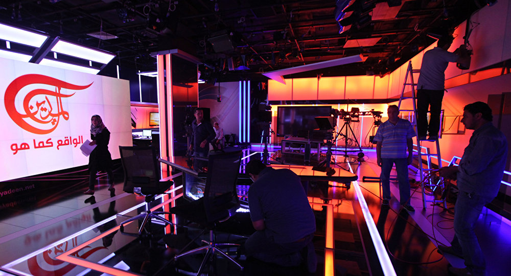 A general view of the newsroom of Al-Mayadeen, a new pan Arab satellite TV station which is launching broadcasts from Beirut, Lebanon (File)