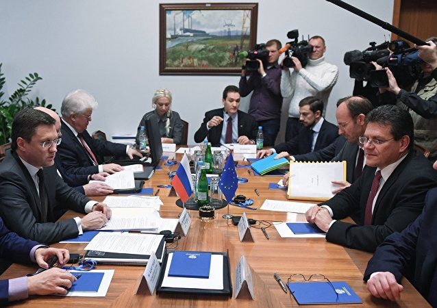 Alexander Novak meeting with Maros Sefcovic
