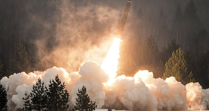 An exhibition missile launch from the Tochka-U tactical complex. (File)