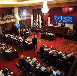 A Parlasur plenary session at the Mercosur building in Montevideo (File)