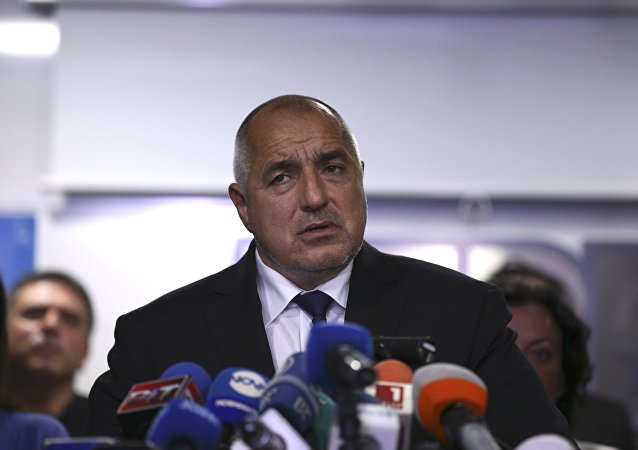 Bulgaria's Prime Minister Boyko Borissov announces his resignation after his centre-right party's candidate lost the race during a presidential election in Sofia, Bulgaria, November 13, 2016