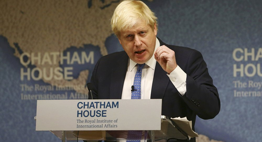 Britain's Foreign Secretary Boris Johnson delivers a speech at Chatham House in London, Britain December 2, 2016.