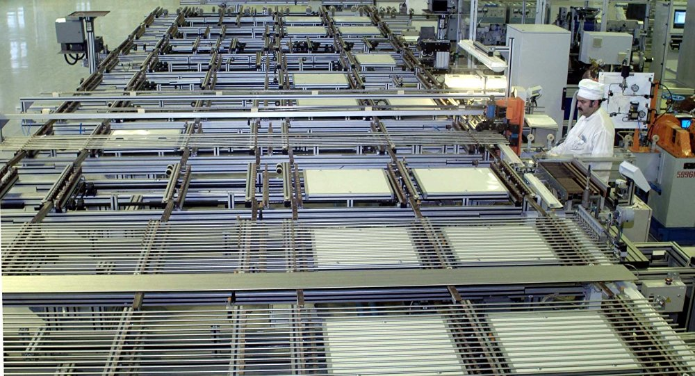 Automated assembly line at the Machine-Building Plant