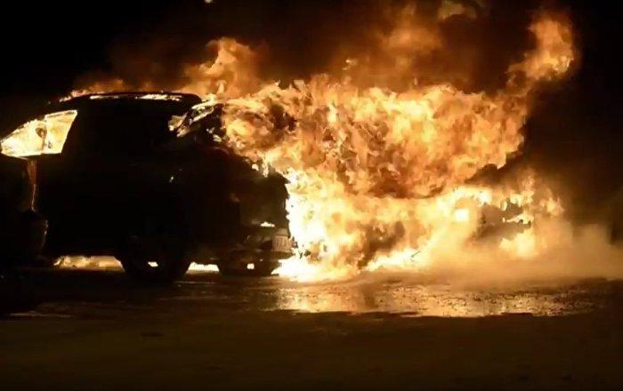 Cars Burn In Stockholm