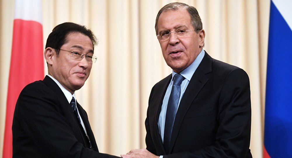 Russian Foreign Minister Lavrov meets with Japanese counterpart Kishida