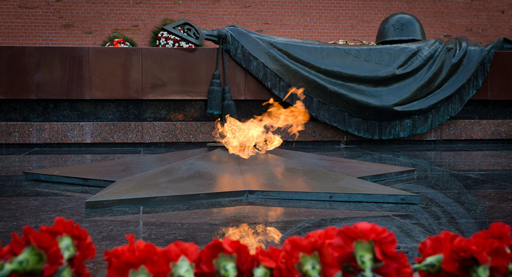 The Tomb of the Unknown Soldier in Moscow's Alexander Garden