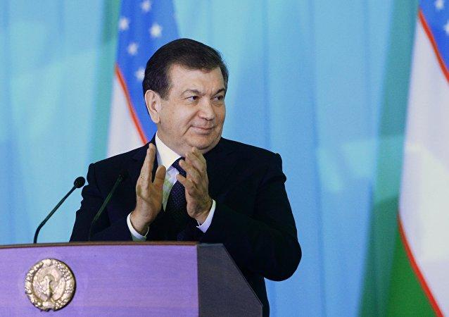 Uzbek Prime Minister and Acting President Shavkat Mirziyoyev, winner of the presidential election in Uzbekistan