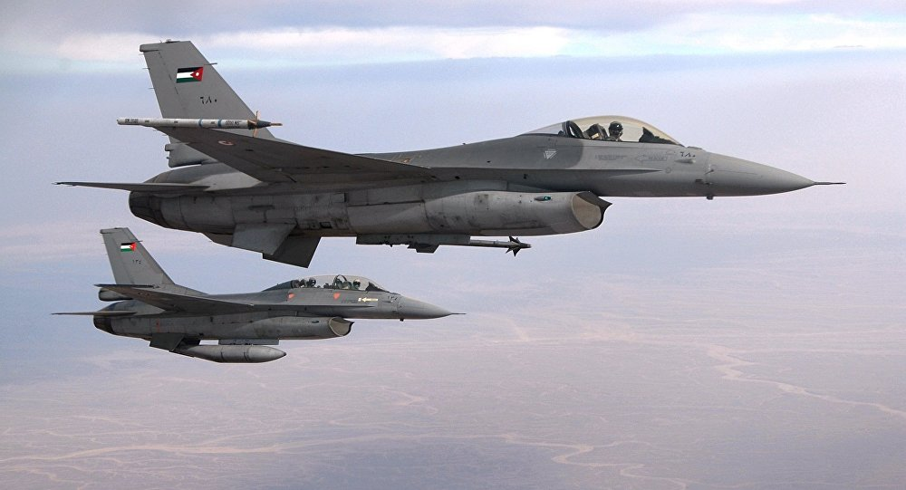 Jordanian F-16 fighter jets