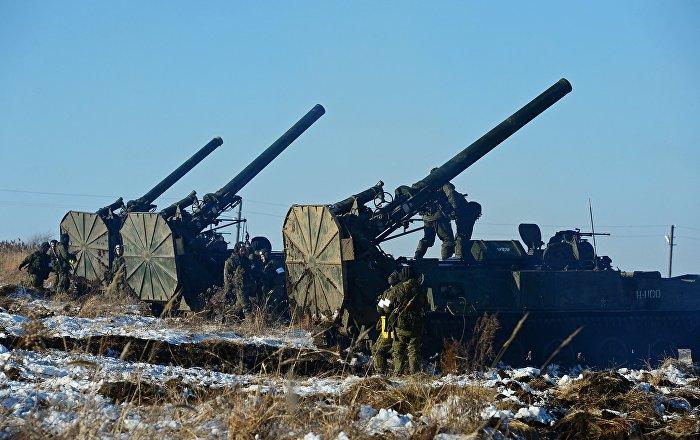 The Soviet 2S4 Tyulpan Self-Propelled Mortar Took Part in Drills