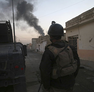 An Iraqi special forces soldier