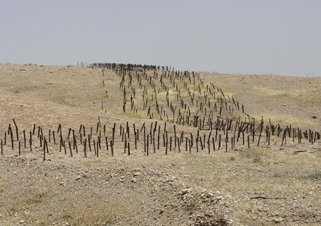 Minefield planted by Iraqi forces in the Iranian territory during 1980-88 Iran-Iraq war