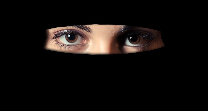 A girl in a veil