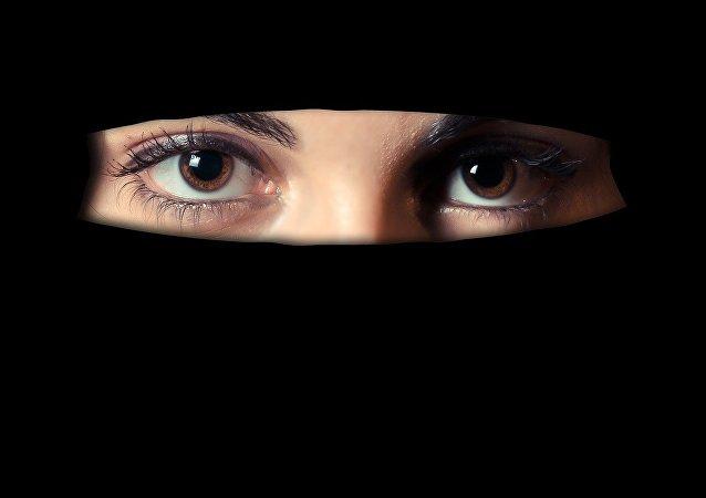 Muslim girl in veil