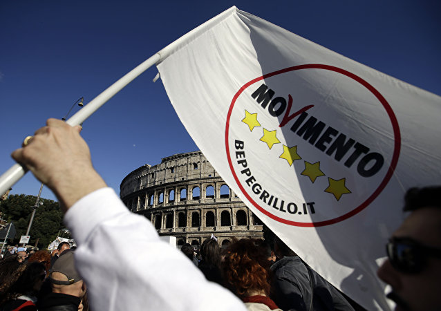 Five Star Movement logo. (File)