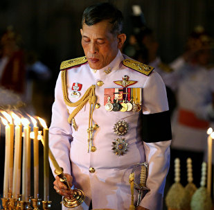 Thailand's Crown Prince Maha Vajiralongkorn attends an event commemorating the death of King Chulalongkorn, known as King Rama V, as he joins people during the mourning of his father, the late King Bhumibol Adulyadej, at the Royal Plaza in Bangkok, Thailand. (File)