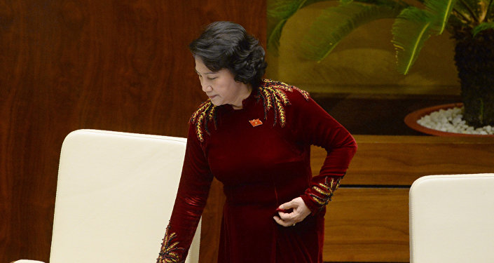 Vietnam's National Assembly Chairwoman Nguyen Thi Kim Ngan