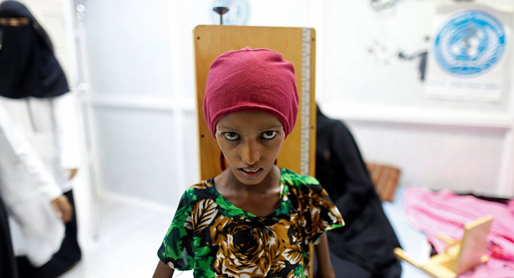The starving people of Yemen.