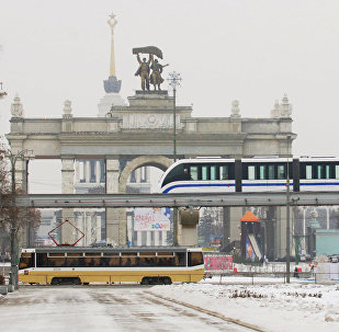 A monorail in Moscow