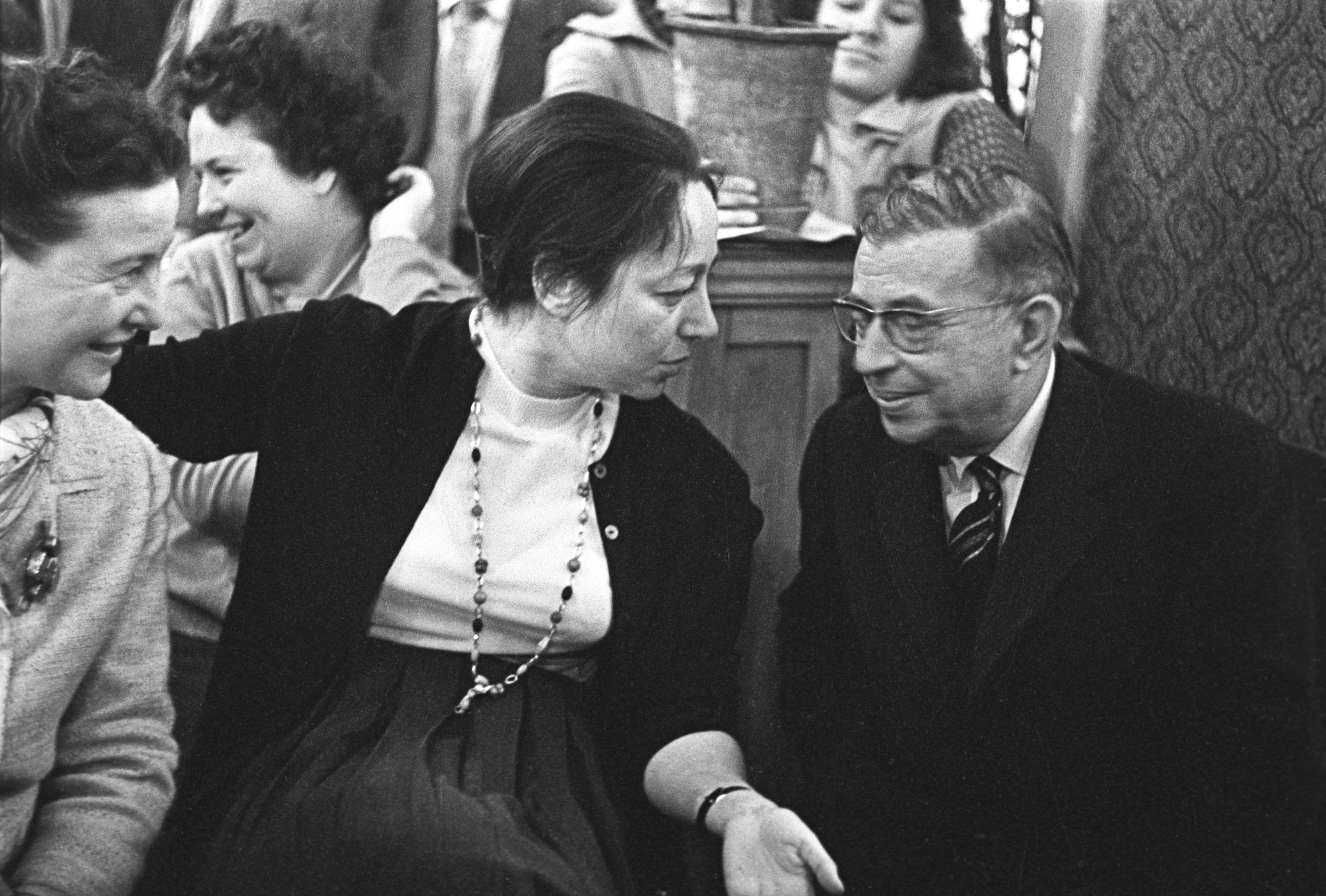 French author Jean-Paul Sartre in Moscow. File photo