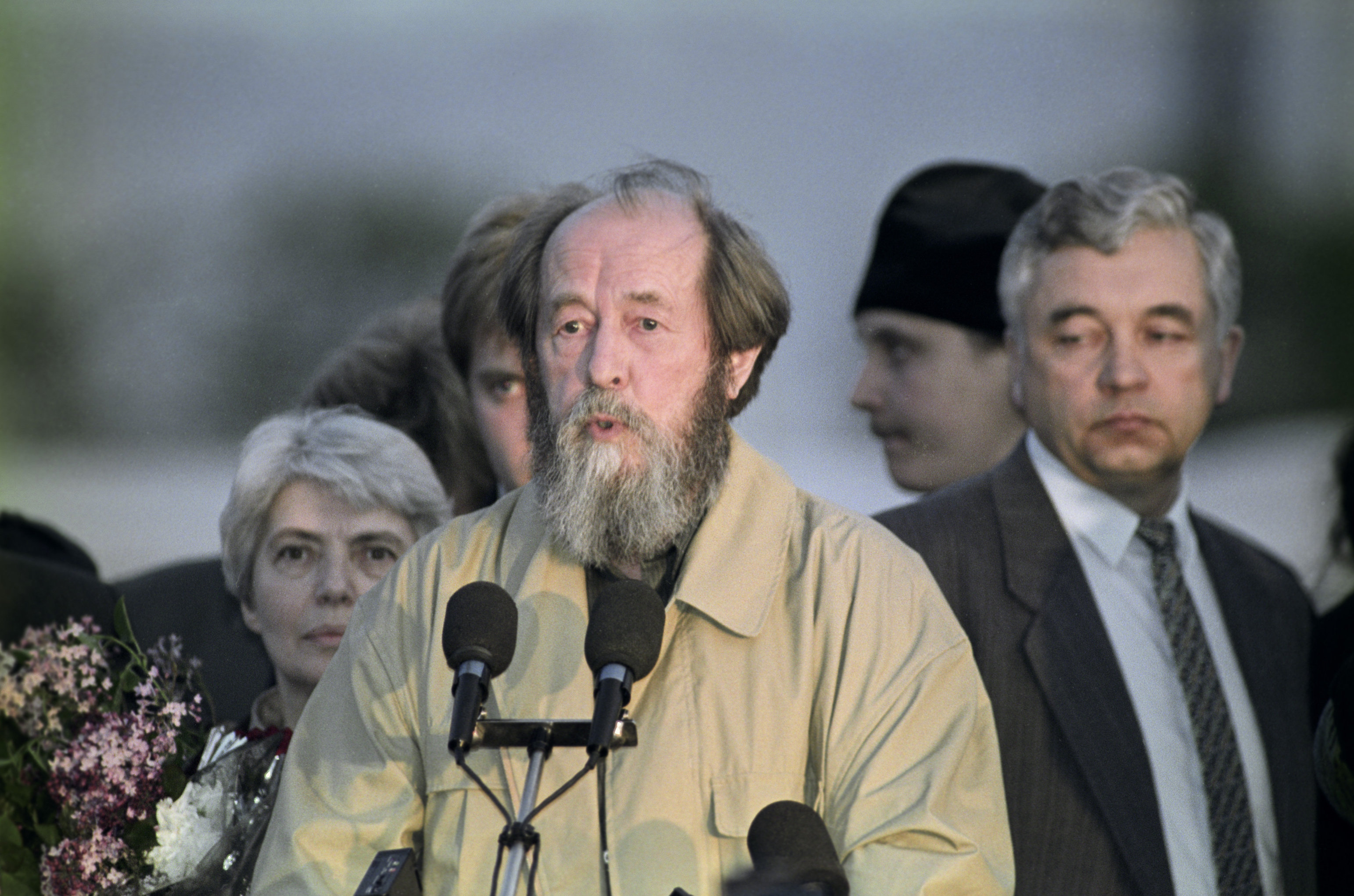 Natalya Solzhenitsyna and Alexander Solzhenitsyn visit Vladivostok. File photo